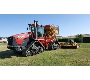 Tracteur Agricole CASE QUADTRAC 485 + combiné ALPEGO 8m